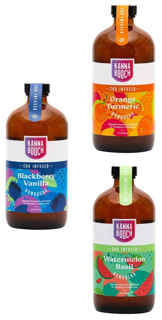 Kannabooch bottle label design