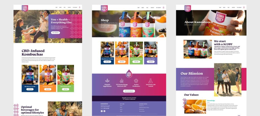 Kannabooch web design